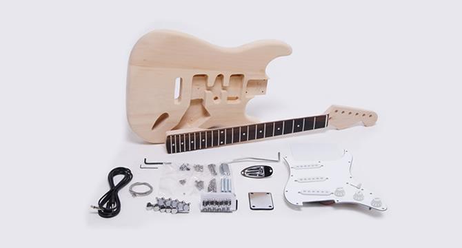 ギター組み立てキット・ストラトタイプ(ヘッドシェイプド)