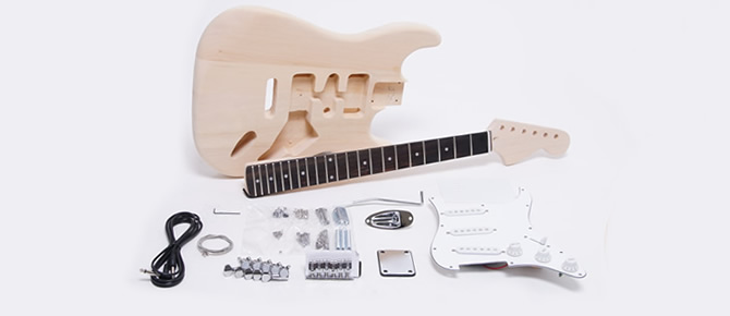 ギター組み立てキット ストラト・ラージヘッドタイプ